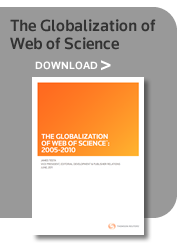 The Globalization of Web of Science 2005-2010 - Download