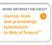 Learn More about Journal, Book and Proceedings submissions to Web of Science